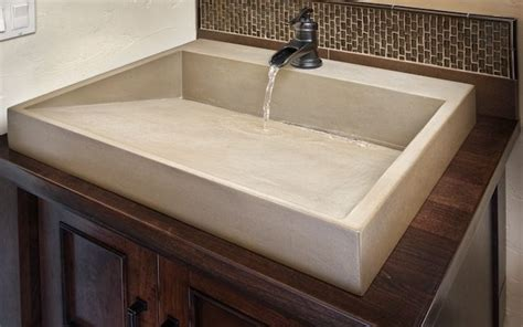 Concrete Countertop With Sink by 1000 Images About Sinks On Kitchen Sink Faucets Bathroom Wall And Ideas For Bathrooms