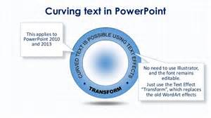 curving text in powerpoint