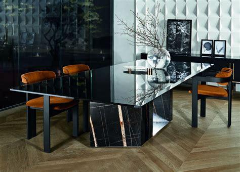 Gallotti Radice by Gallotti Radice Platinum Glass Dining Table Gallotti