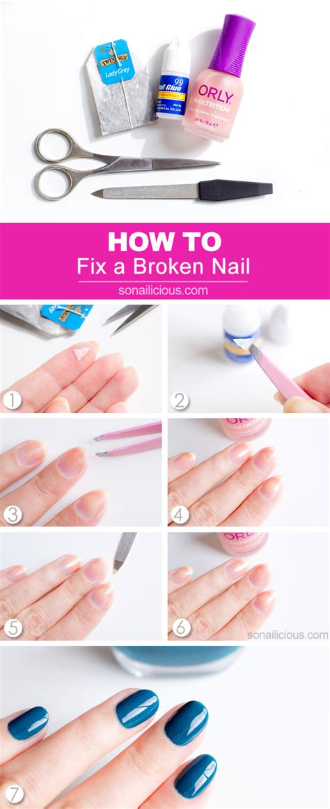 broken nail still attached how to fix a broken nail a genius trick that really works