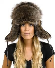 raccoon fur russian hat furhatworld