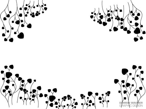 heart vine pattern patterns