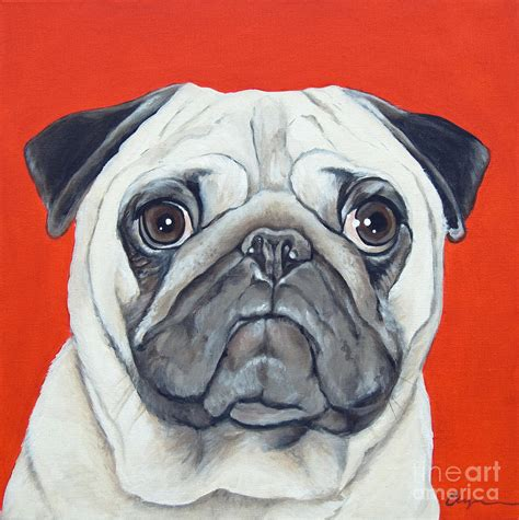 pug painting puzzled pug painting by model dogz