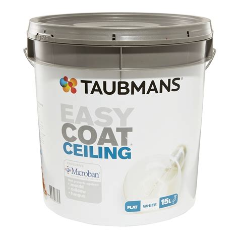 One Coat Ceiling Paint by Taubmans Easy Coat 15l White Ceiling Paint I N 1540107