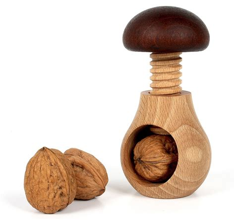 oak wood nut cracker