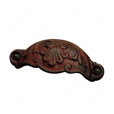 Richelieu Pulls And Knobs by Richelieu Forged Iron 3 5 8 Inch Center To Center Rust