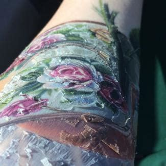 tattoo ink dried up three healing stages of tattoos lovetoknow