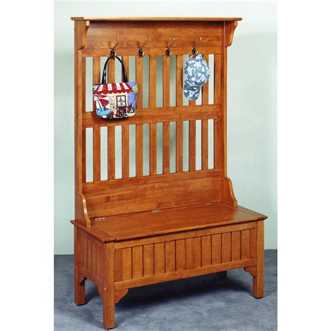 home styles hall tree and storage bench home styles hall coat tree storage bench 117954