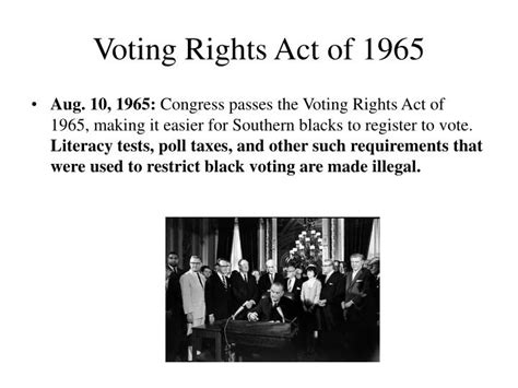 voting rights act of 1965 section 5 ppt 5 days in july the newark riots of 1967 powerpoint