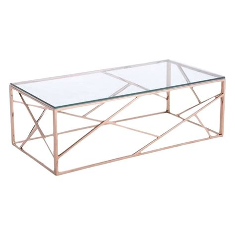 cage coffee table zuo cage glass coffee table in gold 100180