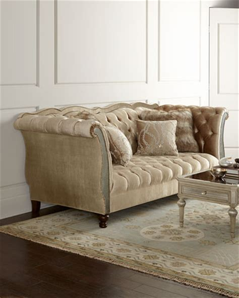 tufted nailhead sofa nailhead trim tufted sofa horchow