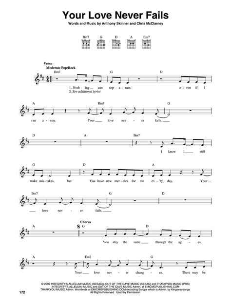 Your Love Never Fails Guitar Chords
