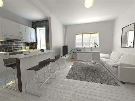 bedroom scene 03 3d model max 3ds c4d kitchen living room scene 3d model architecture 3d