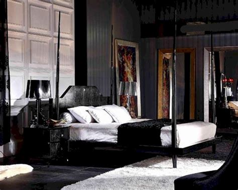 black poster bed black crocodile lacquer four poster bed 44b222bd