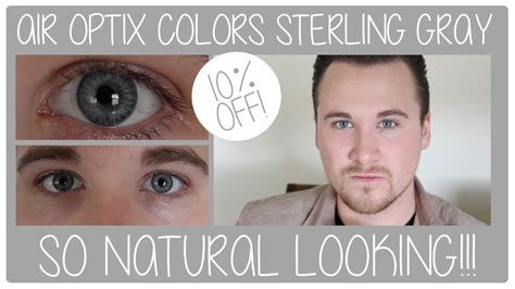 colors review air optix colors contact lenses sterling gray review