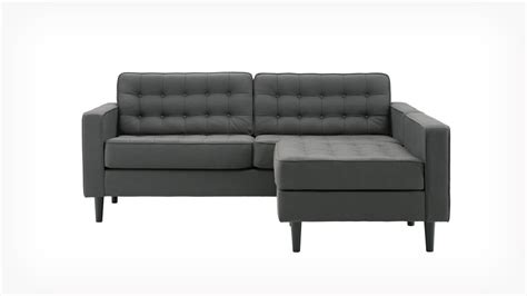 apartment sectionals eq3 reverie apartment 2 piece sectional sofa with chaise