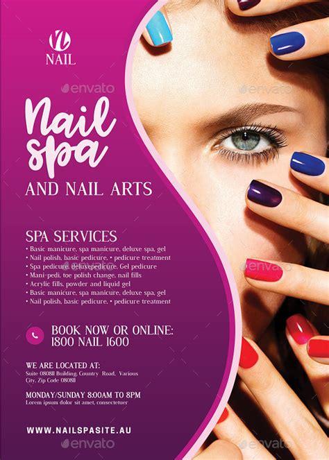 nail salon services flyer  artchery graphicriver