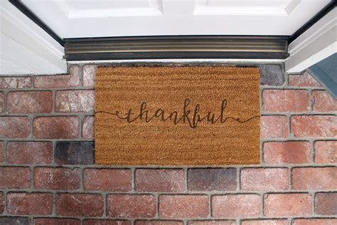Custom Made Doormats by Buy A Handmade Custom Door Mats Dm Coir Thankful Made