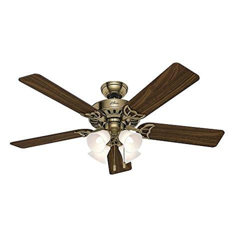 52 inch antique brass ceiling fan 53063 studio series 52 inch antique brass ceiling