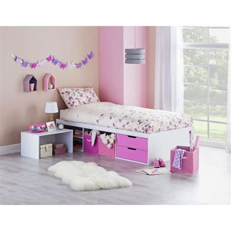 buy callum cabin bed with pull out desk mattress