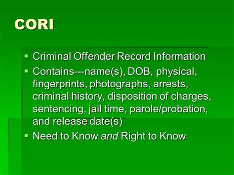 What Is Disposition Date On Criminal Record Information Systems Doj Clets Cori Dmv Ppt