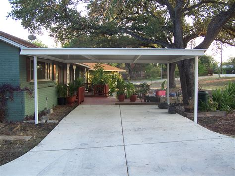 Metal Carport Attached To House Northwest San Antonio Attached Carport Carport Patio