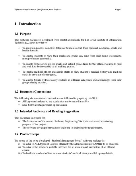 srs template ieee standard srs template contemporary resume