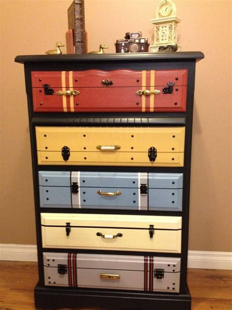 Suitcase With Drawers by Another Faux Suitcase Painted Chest Of Drawers It