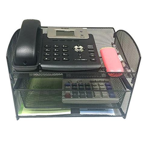 telephone stand desk organizer vanra metal mesh desktop organizer telephone stand phone
