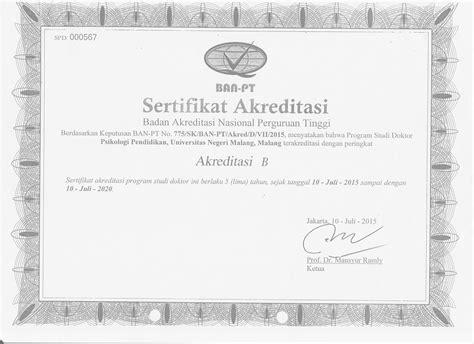 Surat Keterangan Akreditas by Akreditasi Program Studi Pascasarjana Universitas Negeri