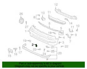 Oem Acura Parts 90149 Sa0 003 Genuine Acura Bolt Bumper