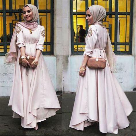 Gamis Lebaran model baju muslim gamis modern terbaru 2018 untuk lebaran