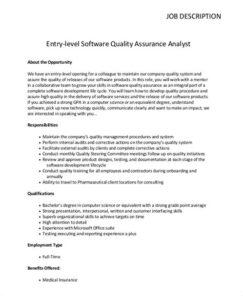 sle quality assurance description 10 28 images quality
