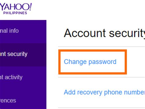 email yahoo change password how to secure your yahoo account