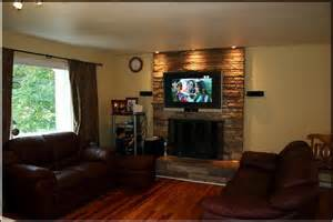 flat screen tv a fireplace think about this