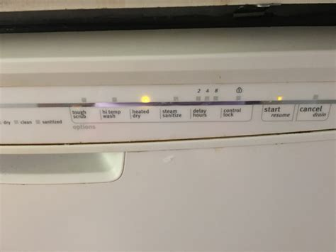 dishwasher dmt400rhs lights flashing panel lights maytag dishwasher panel lights flashing
