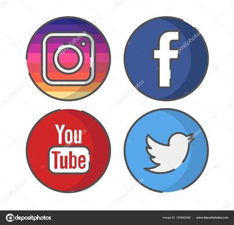 imagenes vectores logos vectores de icono de instagram facebook youtube twitter
