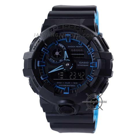 Tl Ori Real Pict gambar jam tangan g shock ori bm ga 700se 1a2 hitam biru