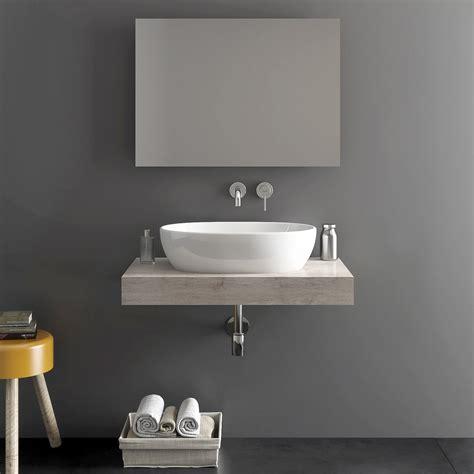 mensole per lavabi d appoggio mensola top bagno color tortora da 80 cm per lavabi d