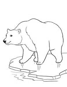 winter bear coloring page polar bear coloring page winter az coloring pages