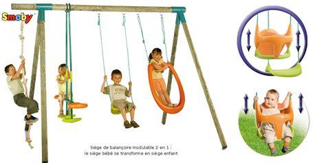 Balancoire Smoby by Portique Et Balancoire Bois Pour Enfants Marquise Smoby