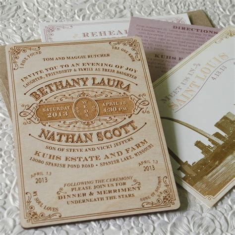 wood wedding invitations wood engraved wedding invite we re goin to the chapel