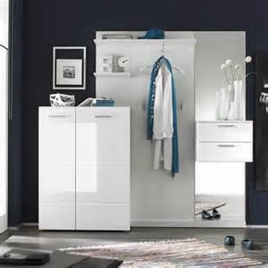 garderobe weiß garderobe 4 teilig garderoben set garderobe modern in wei 223
