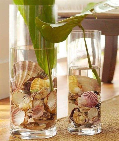 vasi con conchiglie oltre 25 fantastiche idee su decorazione di conchiglie di