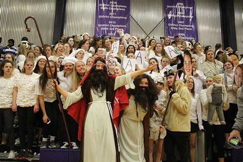 student section themes varsity basketball team beats sion dartnewsonline