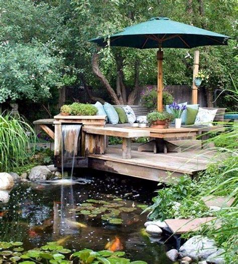 creating an outdoor patio creating a garden pond and create a green oasis interior