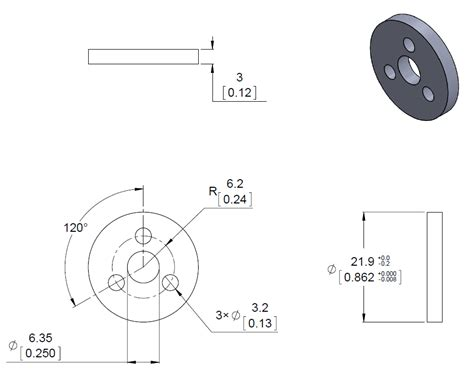 wheel dimensions diagram pololu aluminum scooter wheel adapter for 4mm shaft melopero