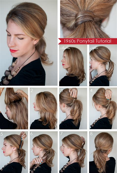 hairstyles to do at home for medium hair hairstyle how to create a 1960s style ponytail hair