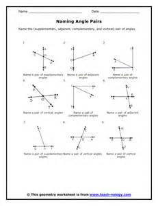 free math worksheets adjacent angles