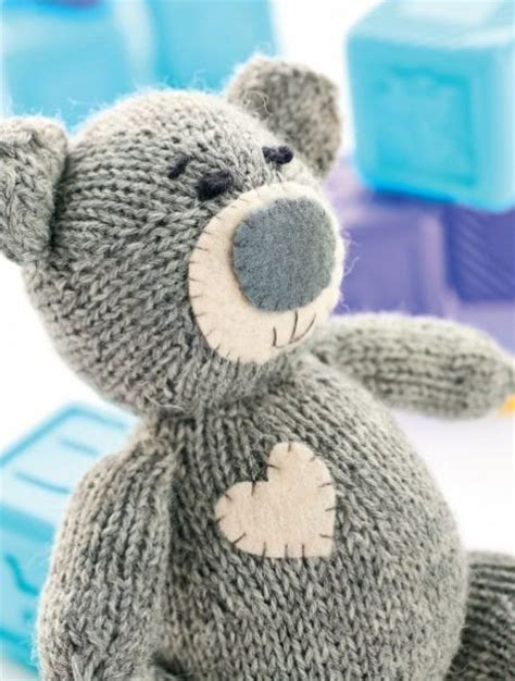 knitted teddy oliver the teddy free knitting pattern on